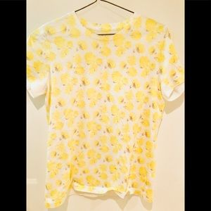 Yellow floral T-Shirt M